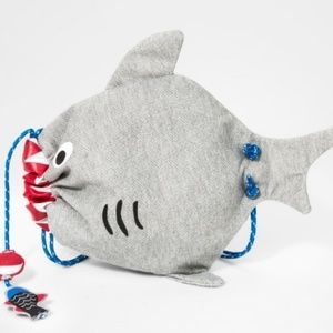 Boys' Shark Drawstring Backpack - Cat & Jack™ Gray